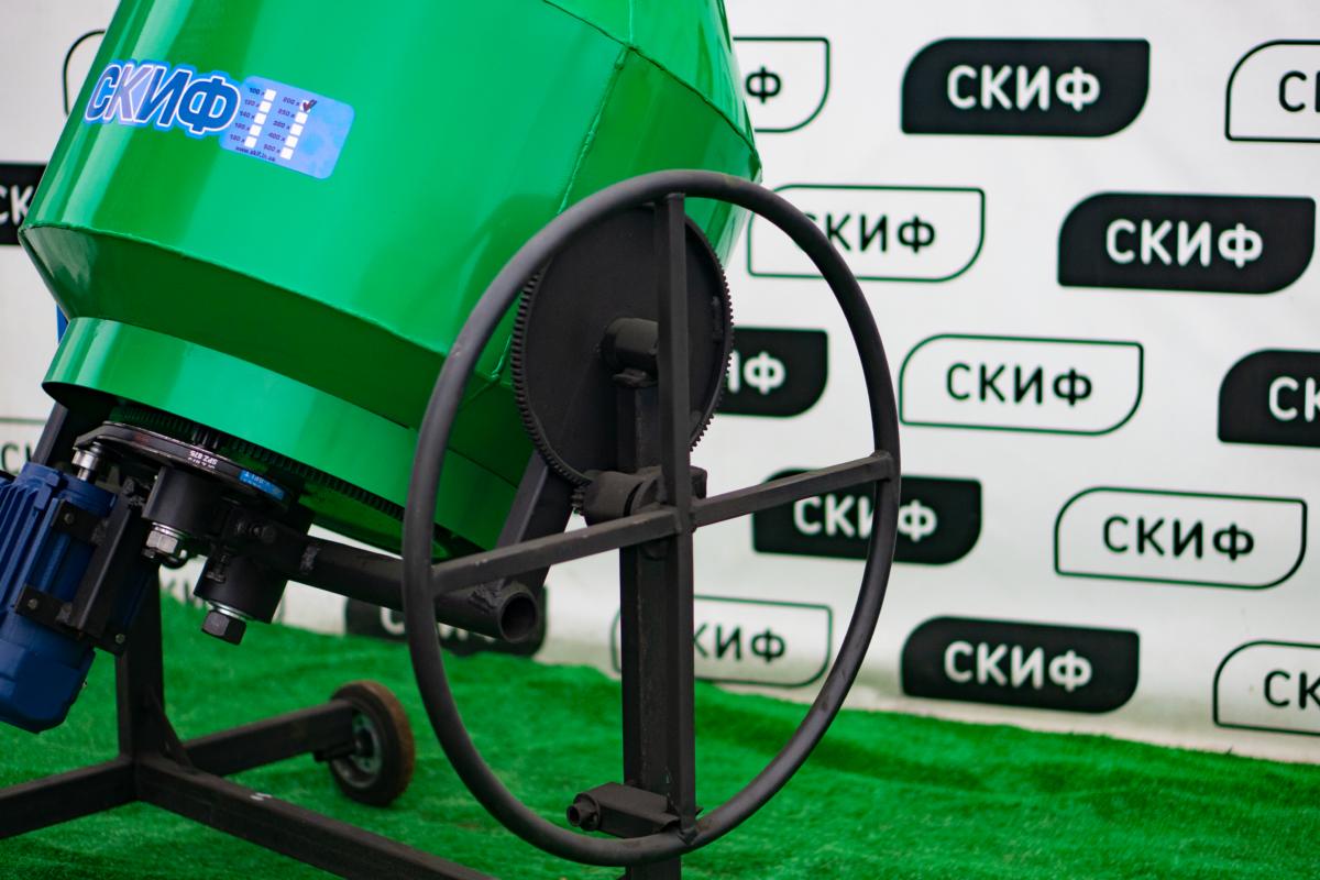 Бетономешалка Скиф БСМ-200 с редуктором переворота -  Skif.in.ua